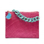 MYRA RED W SHORT TURQUOISE CHAIN *CUSTOMIZED*