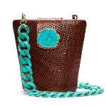 NAOMI BROWN W TURQUOISE - TURQUOISE LONG CHAIN