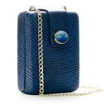 NORA BOX BAG - NAVY BLUE W AGATE